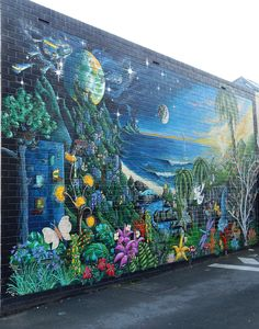 Street Art in laneway off South Tce. Adelaide