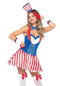 New Leg Avenue 86170 Yankee Doodle Darlin' Halloween Costume  #LegAvenue