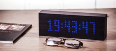 Whether it's creating a greeting for guests with a welcome message in your home, advertising your business or simply making a statement – the Gingko Watch This Space, Advertise Your Business, Timber Wood, Can Lights, Alarm Set, Digital Alarm Clock, Light Up, Messages, Led