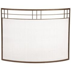 Bungalow Roman Bronze Curved Fireplace Screen -
