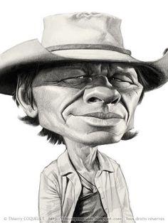 10 caricaturas en blanco y negro charles bronson