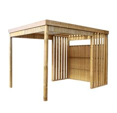 Contemporary Wooden Barbecue Shelter