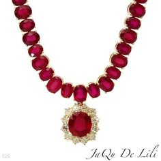 Jaqu De Lili 14K Yellow Gold 12.2 CTW Ruby and « Holiday Adds