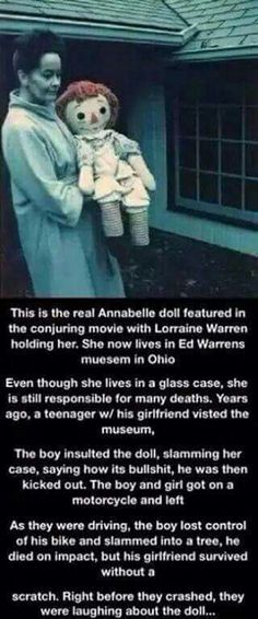 The Real Annabelle Doll Scary Horror Stories, Short Creepy Stories, Paranormal Stories, Spooky Stories, Weird Stories, Scary Movies, Real Horror, Scary Stories To Tell, Short Stories