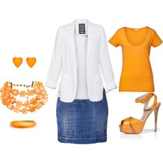 orange highlights, created by pcox1970 on Polyvore