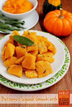 Butternut Squash Gnocchi with Garlic Butter and Sage Sauce. Unbelievably delicious freezer meal for busy weeknights!