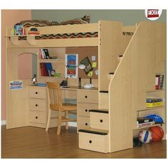 Give your child a bedroom they'll love forever with the Utica Twin Dorm Loft Bed from Berg Furniture.