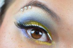 Sailor Uranus inspired makeup by http://www.sweetcherry.de/2016/03/blogparade-sailor-uranus.html