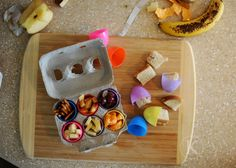 Easter egg lunch - hide snacks in eggs and make the kids find their meal!