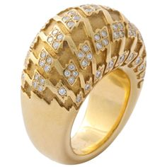 CHRISTIAN DIOR Ring 18KT Gold with Diamonds