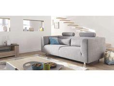 Canapé fixe 3 places DALIA coloris gris - pas cher ? C'est sur Conforama.fr - large choix, prix discount et des offres exclusives Canapé droit sur Conforama.fr