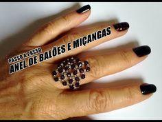 NM Bijoux - Anel Losango de Miçangas - YouTube