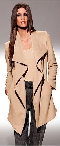 Heine Drape Front Coat