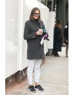 Emily Ramshaw, fashion editor for The Coveteur website, Nike trainers and cuffed denim...#NYFW