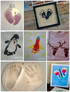 DIY: Fußabdrücke von Babys und Kindern - 14 Ideen   babybirds