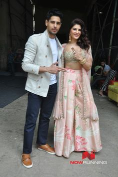 Sidharth Malhotra and Jacqueline Fernandez snapped promoting A Gentleman