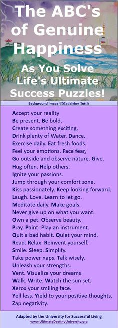 corny title, good advice #happiness helps make fitness possible. #Fitness Matters