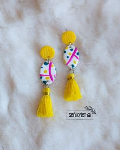 Bridesmaid Earrings, Bridesmaids, Statement Earrings, Tassel Necklace, Personalized Bridal Party Gifts, South African Artists, Pretoria, Polymer Clay Earrings, Jewelry Trends