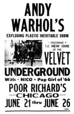 Andy Warhol's The Velvet Underground - Concert Poster