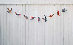Etsy Treasury by Inspire Styling   Flying on your Wings   Illustrated bird garland kit