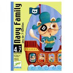 Djeco Kinder Kartenspiel Quartett Navy Familie für Kinder von 4 - 7 Jahren