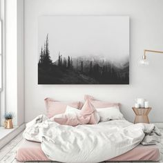 Blush Gray Painting Digital Print Scandinavian Decor Ombre Art Grey Watercolor Print Abstract Art Modern Print 2228 in Print Avenue - Decoration For Home Framed Canvas Prints, Canvas Frame, Art Gris, Creation Deco, Flat Ideas, Mountain Art, Abstract Canvas Art, Art Moderne, Home And Deco