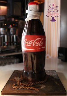 Coca Cola Bottle Groom's Cake with Wedding Bands by Sweet Element Cakes Cupcakes, Cupcake Cookies, Unique Cakes, Creative Cakes, Coca Cola Addiction, Coca Cola Cake, Bottle Cake, Always Coca Cola, Sculpted Cakes