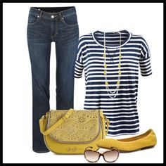 """CAbi Sailing Tee with Zoe Jean"" by deanna-carroll on Polyvore"