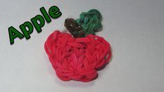Rainbow Loom Charms: APPLE: How To Design / Tutorial (DIY Mommy)