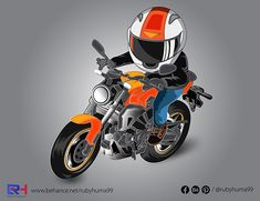 Motorcycle Vector Illustration By Ruby Huma on Behance Adobe Illustrator, Behance, Motorcycle, Creative, Illustration, Motorcycles, Illustrations, Motorbikes, Choppers