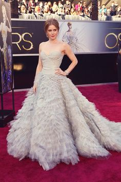 Amy Adams in Oscar de la Renta, at the 85th Annual Academy Awards