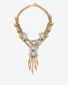 Fallon Rosewell Crystal Cluster V Necklace on shopstyle.com