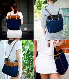 fabric and handle tote backpack