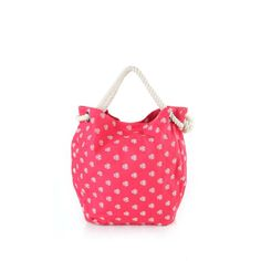 A coral pink canvas tote bag for women by Be for Bag. This zoli bag is trendy and stylish with all over prints and a pair of braided rope handles which makes it convenient to carry. It's fun, feminine and perfect to flaunt without compromising on style and comfort.