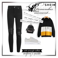 """shein contest"" by melisa-j ❤ liked on Polyvore featuring AMIRI, adidas, Charlotte Russe and WALL"
