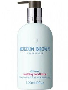 Molton Brown Rok Mint Soothing Hand Lotion 10 oz. by Molton Brown. $28.00. Rok-radish with aromas of mint, blackcurrant and basil. Enjoy fresh, herby aromas and skin left enriched and protected with our latest hand lotion blend. Aromatic. Crisp. Impeccable.10 fl oz.. Rok-radish with aromas of mint, blackcurrant and basil gives you a fresh, and herby aroma, leaving your skin enriched and protected with latest hand lotion blend.