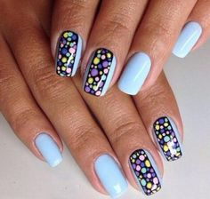 Cute and colorful easter nail art designs for spring 2019 00141 Easter Nail Designs, Easter Nail Art, Nail Designs Spring, Cool Nail Designs, Red Nails, White Nails, American Nails, Nail Brushes, Halloween Nail Art