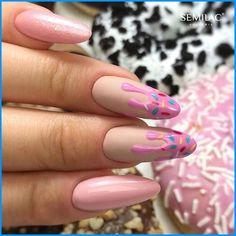 Spring Nail Art, Winter Nail Art, Spring Nails, Winter Nails, Fall Nails, Nail Art Cute, Cute Acrylic Nails, Acrylic Nail Designs, Ice Cream Nails