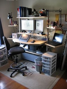 Work from home office setup: pocket : stunning home office workstation Home Office Setup, Home Office Design, Home Office Furniture, House Design, Floor Design, Office Ideas, Layout Design, Design Design, Furniture Design