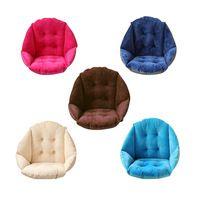 Soft Plush Shell Design Seat Cushion Lumbar Back Support Cushion Pillow for Beach Home Office Car Seat Chair Buttocks Pad P20
