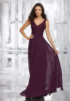 Mori Lee Bridesmaids dress style #21546 now available at Bridal Collections.