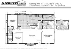 Available Fleetwood Manufactured Home and Mobile Home Floor Plans