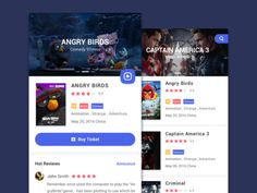 Movie App Design designed by Lorne Zeng. Connect with them on Dribbble; Mobile Ui Design, App Ui Design, User Interface Design, Web Design, Library App, Card Ui, App Design Inspiration, Mobile App Ui, Music App