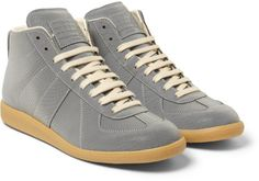 Maison Martin Margiela Reflective Snakeembossed Hightop Sneakers @Lyst