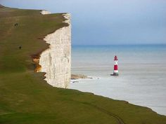 Beachy Head is a chalk headland in Southern England, close to the town of Eastbourne in the county of East Sussex, immediately east of the Seven Costa, Images Of England, Cairngorms, England And Scotland, England Uk, English Countryside, East Sussex, London Travel, Places To See