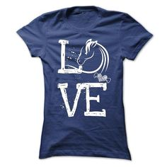 Spiffy pet products... Love, where the O is an illustration of a horse! T-shirt