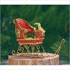 Mini Dash Away Sleigh Ornament