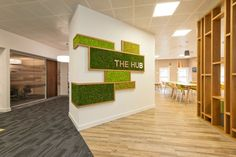 Nordik Moss Walls are maintenance free, which means no hassle, just beautiful aesthetics. Workspace Design, Office Interior Design, Office Interiors, Office Walls, Office Decor, Vertikal Garden, Office Entrance, Moss Wall Art, Creation Deco