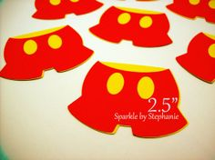 Mickey Mouse Pants Die Cuts  Set of 12  2.5  by sparklebystephanie, $3.25