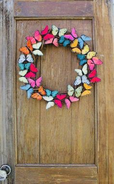 Spring Wreath Butterfly Wreath Butterfly Summer Wreath Colorful Wreath Butterfly Decor Front D Spring Door Wreaths, Summer Wreath, Wreaths For Front Door, Front Doors, Butterfly Gifts, Butterfly Decorations, Summer Door Decorations, Summer Crafts, Diy And Crafts